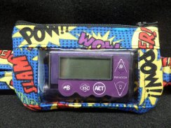 Super Hero Words Window Insulin Pump Pouch Case For Boys