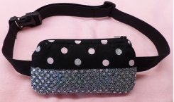 Insulin Pump Case Two Tone Polka Dot & Sequin