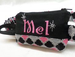 Personalized Insulin Pump Pouch Moroccan with Sparkle Charm