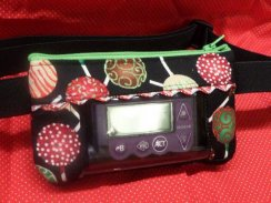 Holiday Cake Pops Insulin Pump Pouch Window Optional