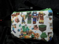 Mining Pixel Characters Gaming Insulin Pump Pouch