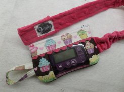 Window Optional Insulin Pump Case with Cupcakes