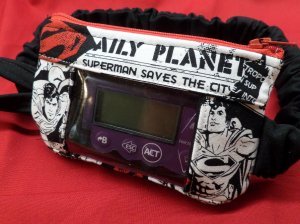 Superman Newspaper Insulin Pump Pouch For Boys