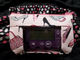 Glam Girl Window Insulin Pump Pouch Case