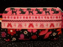 Insulin Pump Pouch w/ Glitter Kitty & Butterfly Two Tone